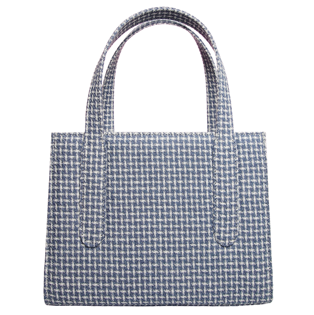 Eco Wool & Cotton Tote Blue