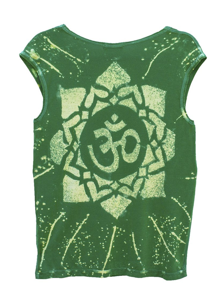 Star Yantra Yoga Tee Shirt OM Aspen Green
