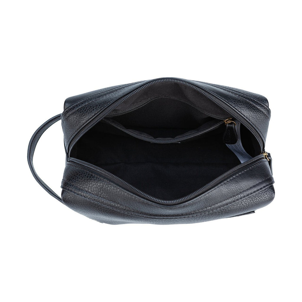 Black Fletcher Vegan Leather Dopp Kit