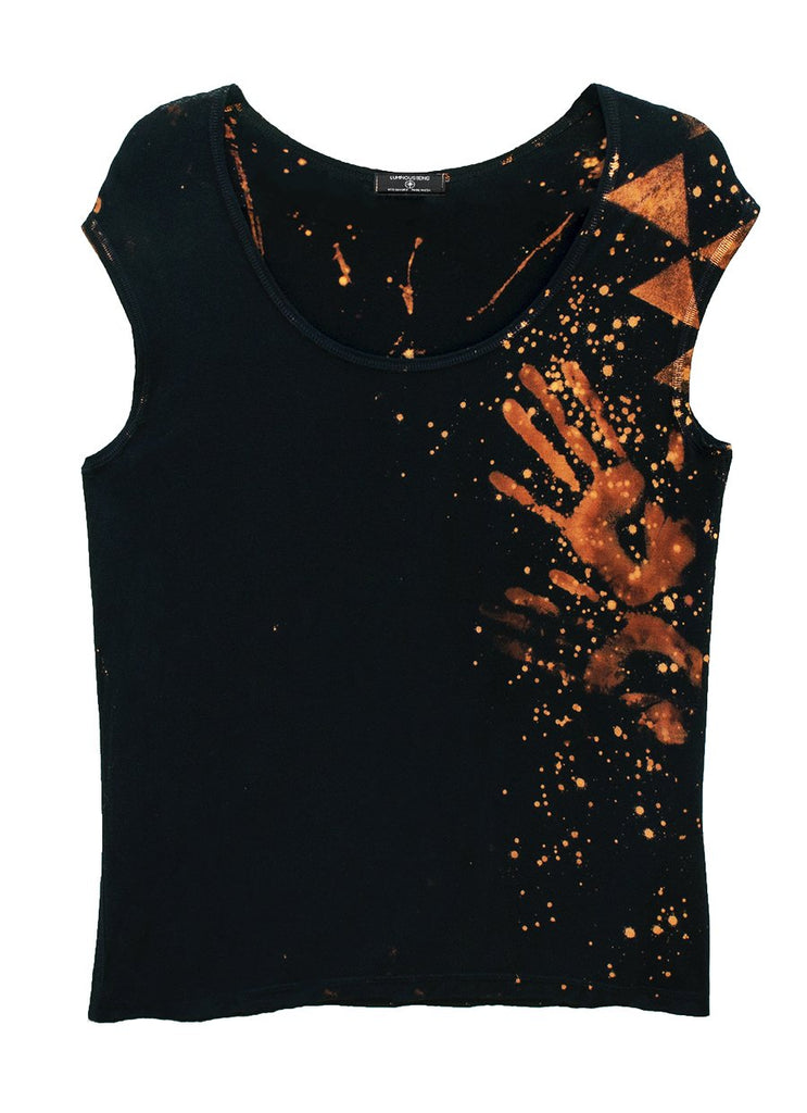 Star Yantra Yoga Tee Black