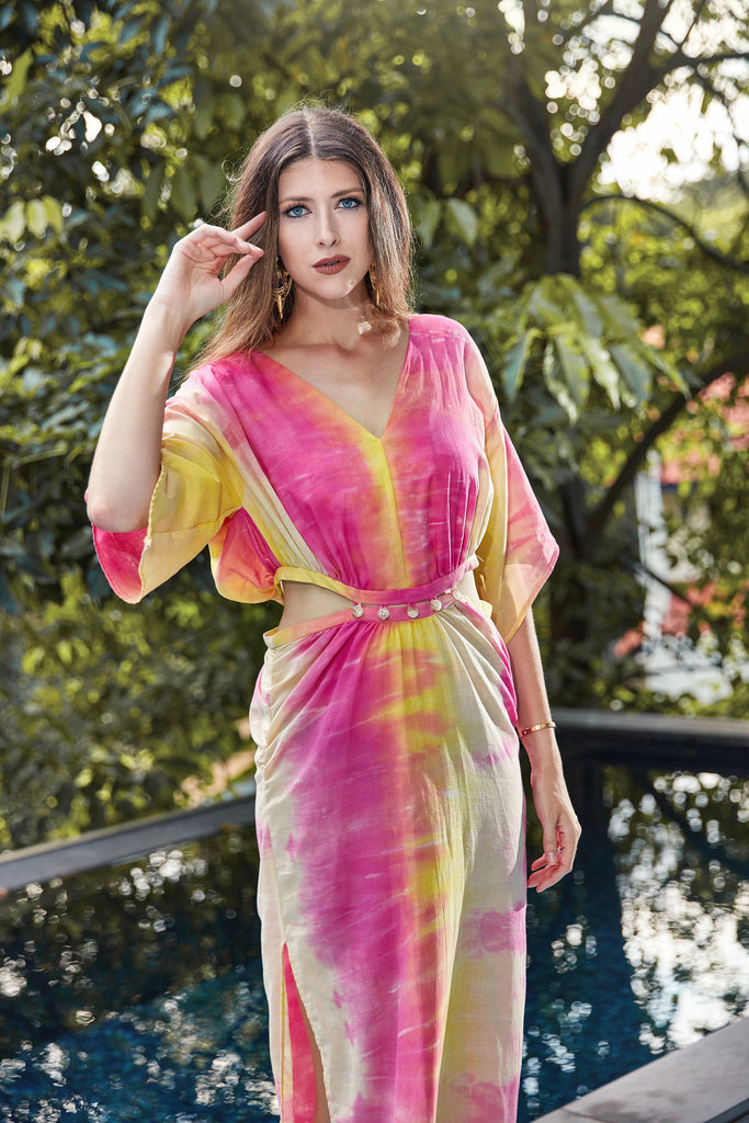 Alix Kaftan in Tie Dye Cotton
