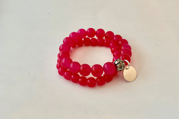 Double Stack Bracelet - Hot Pink