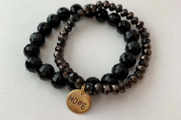 Black Two Stack Bracelet