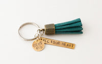Tassel Key Chain - small double charm