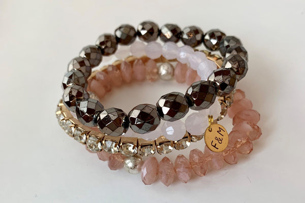 Fancy Four Stack Bracelet