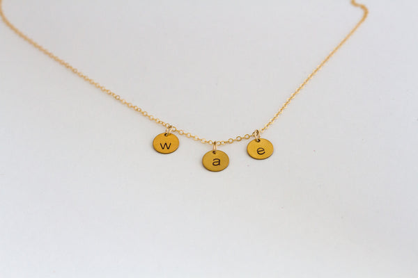 Mini Hanging Charm Necklace
