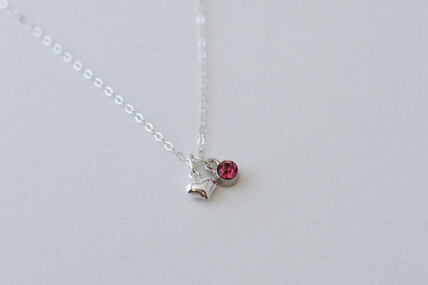 Little's Silver Heart Necklace