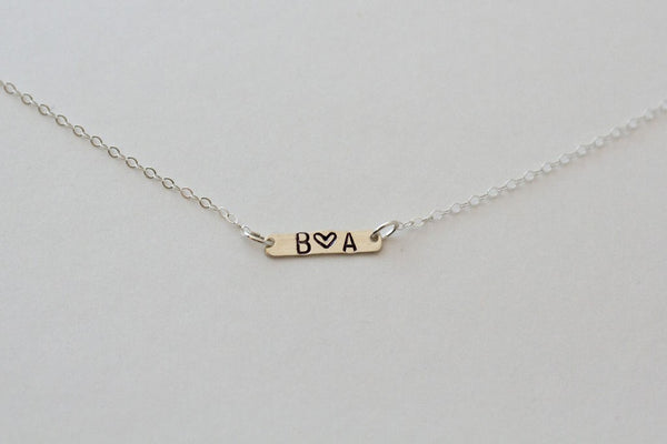 Mini Silver Bar Necklace