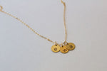 Mini Circle Necklace - Brass