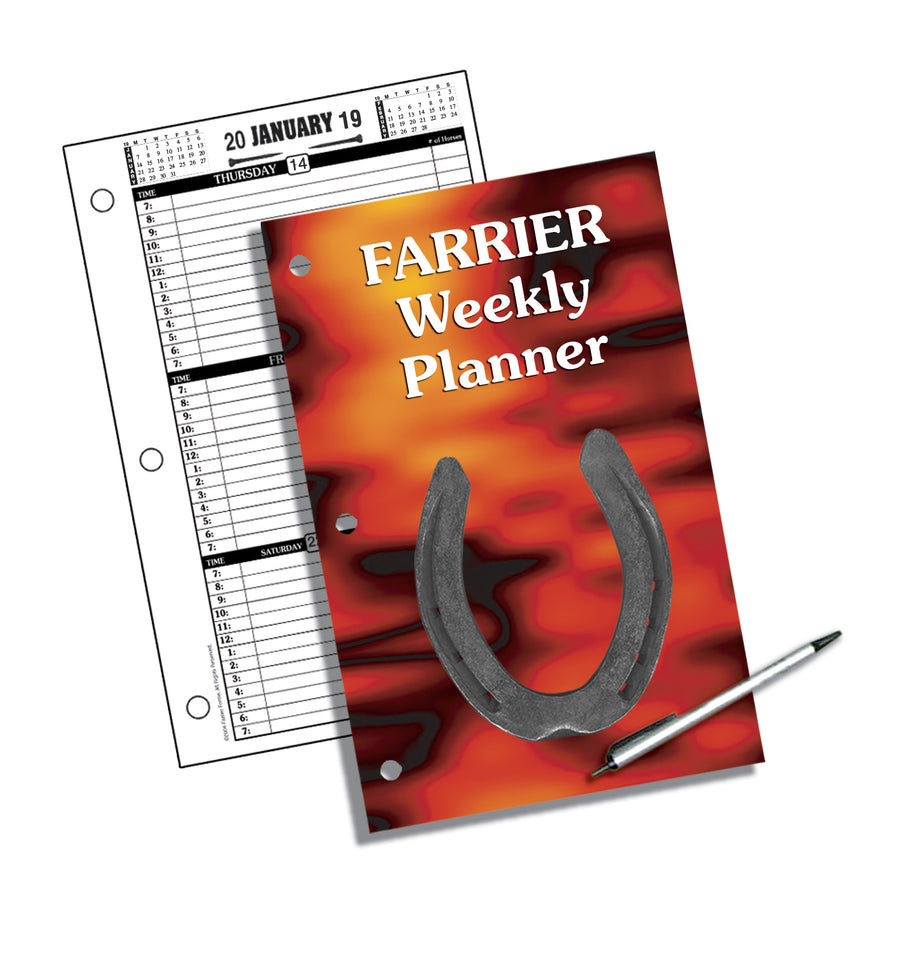 2019 Farrier Forms Weekly Planner