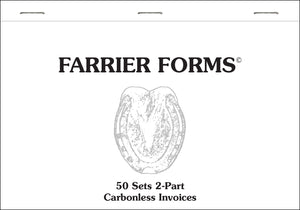 Farrier Forms Invoices