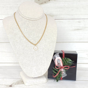 "**Preorder** Ships December 2nd!!  16"" Monogram Necklace on Small Curb"