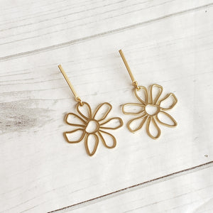 Daisy Bar Post Earrings