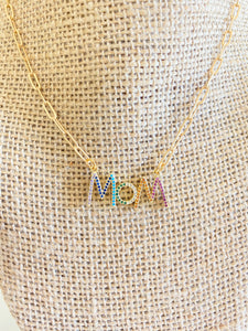 "Mom 16"" Paperclip Necklace"