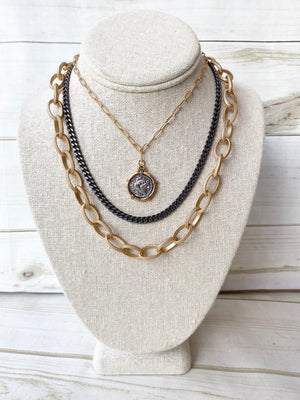 Etched Chain Necklace