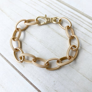 Etched Chain Bracelet