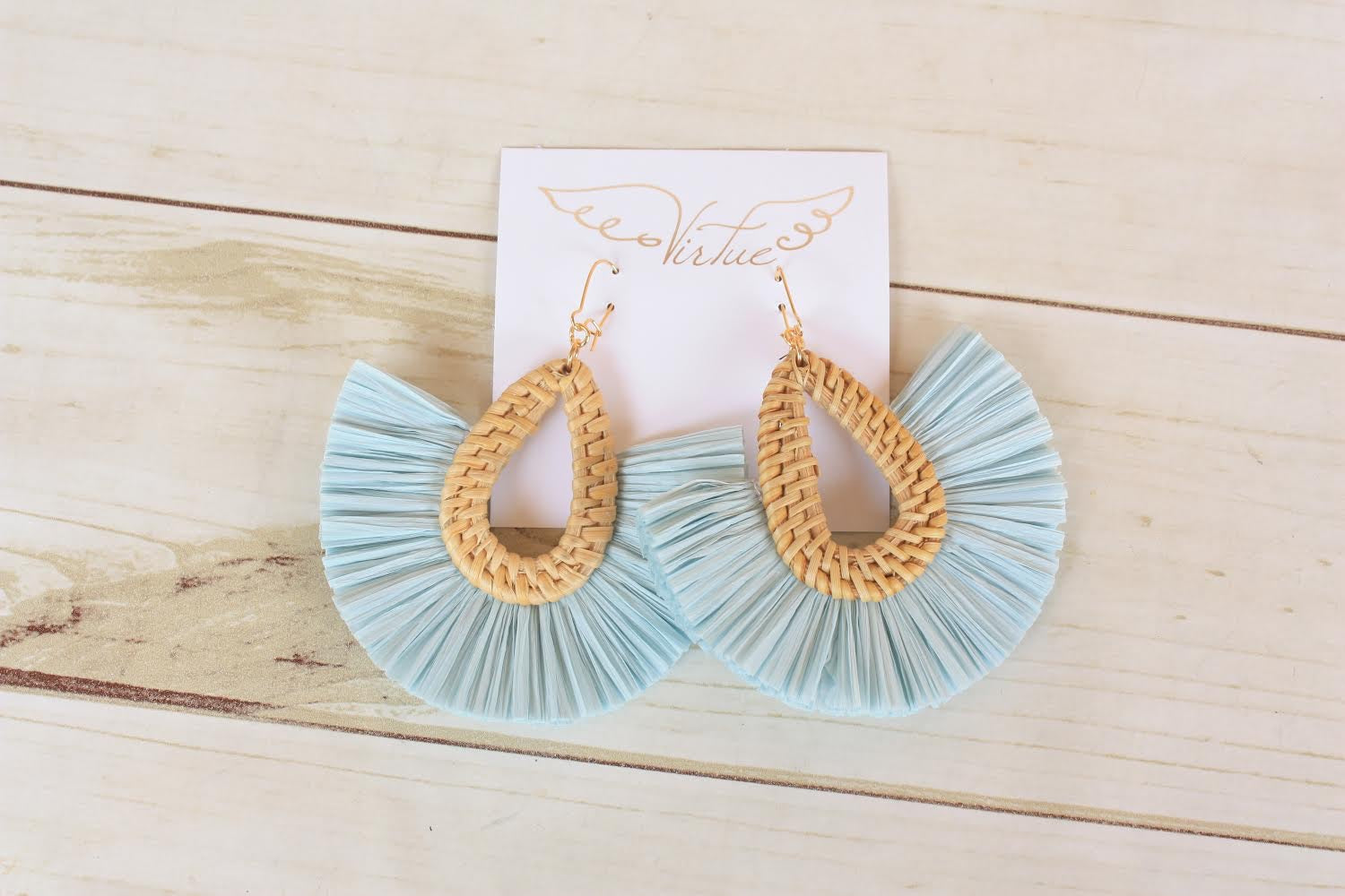 Wicker Fan Earrings