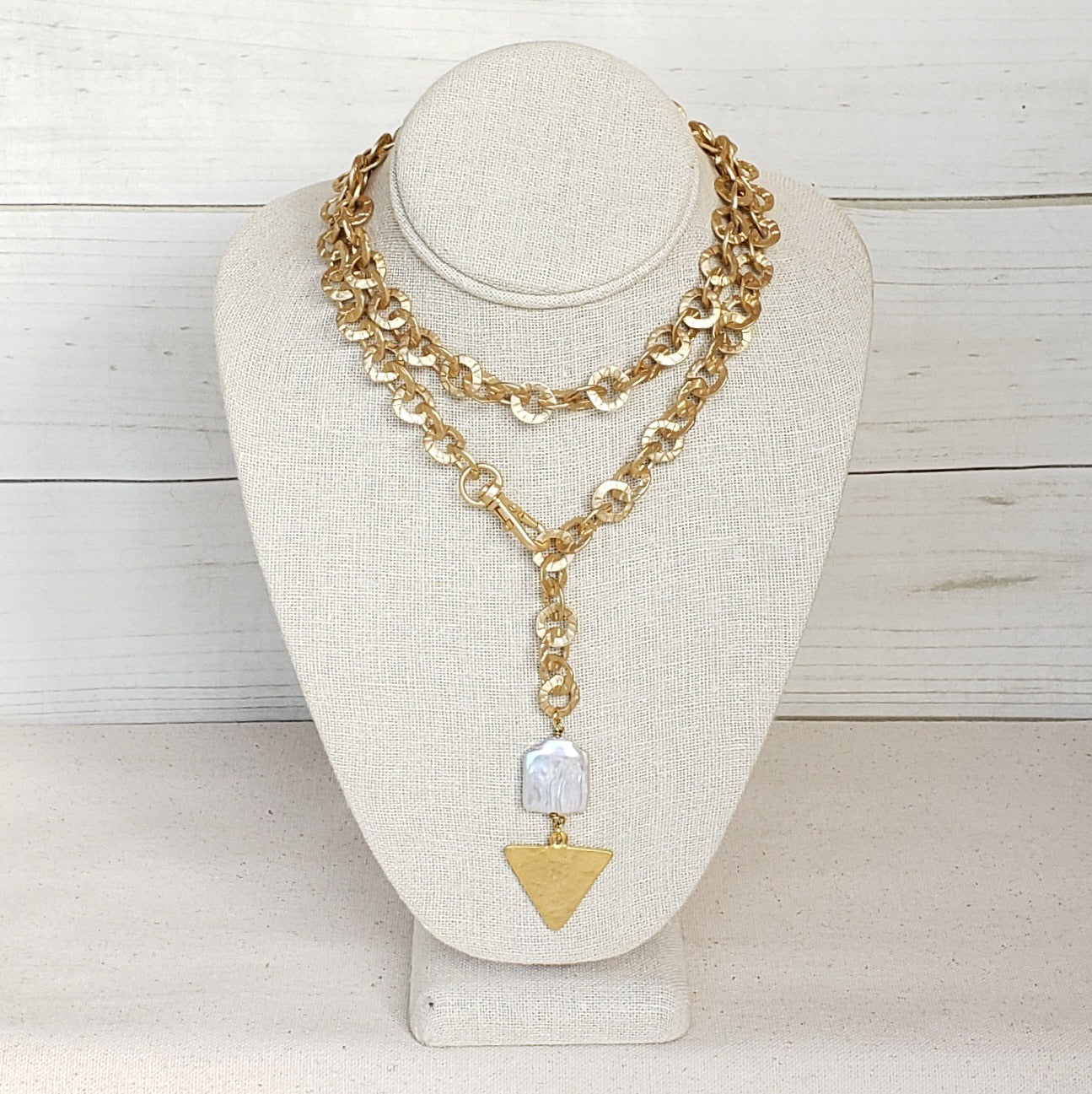 Washer Toggle Necklace w/ Triangle