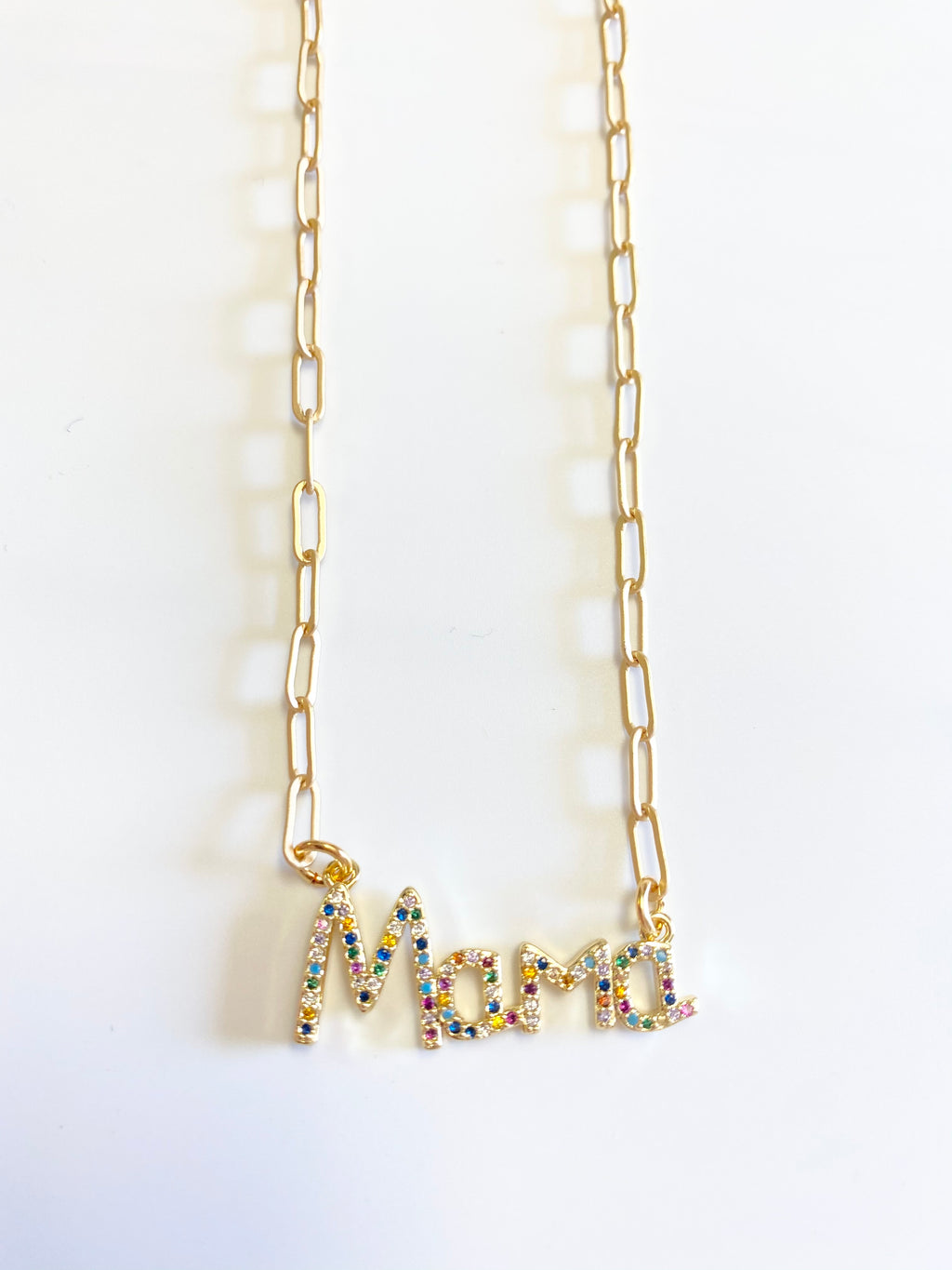 "Mama 16"" Paperclip Necklace"
