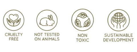 Cruelty free, not tested on animals, vegan