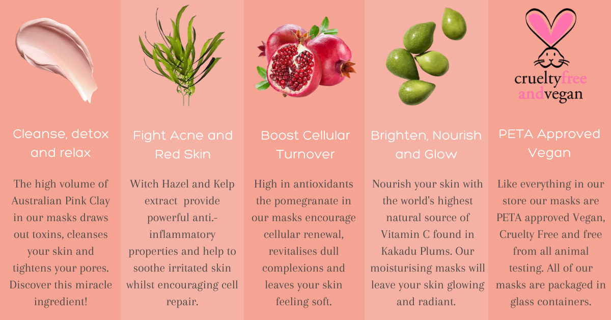Pink clay mask benefits