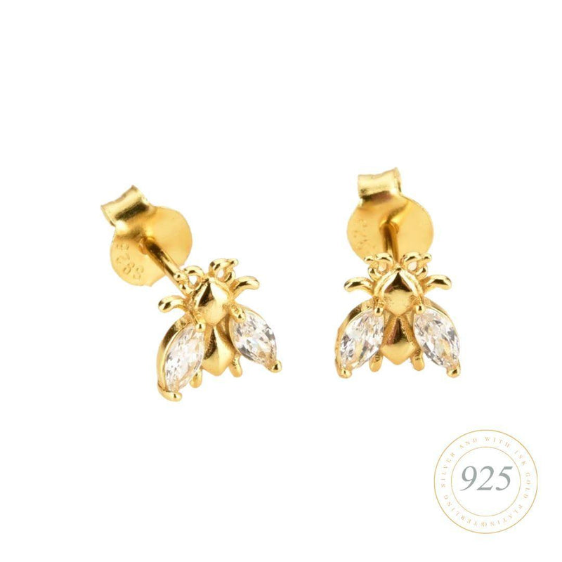 Bee Lovely Brilliance Gold Earrings Watch Hurtig Lane Vegan Watches