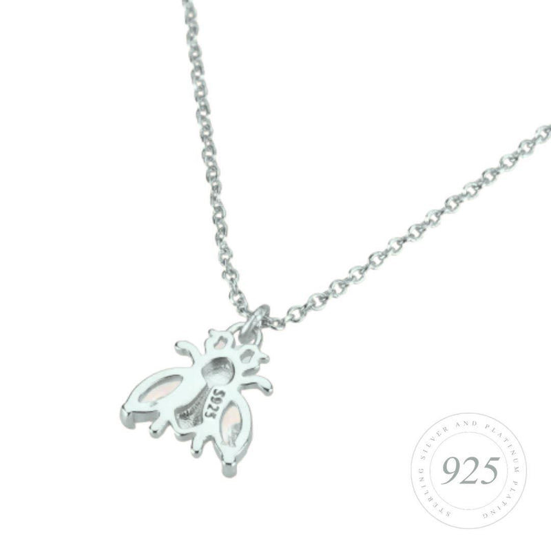 Bee Lovely Brilliance Silver Necklace Jewellery Hurtig Lane Vegan Watches
