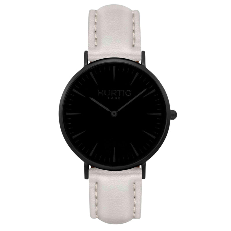 hurtig lane vegan watch black and grey- vegane uhr