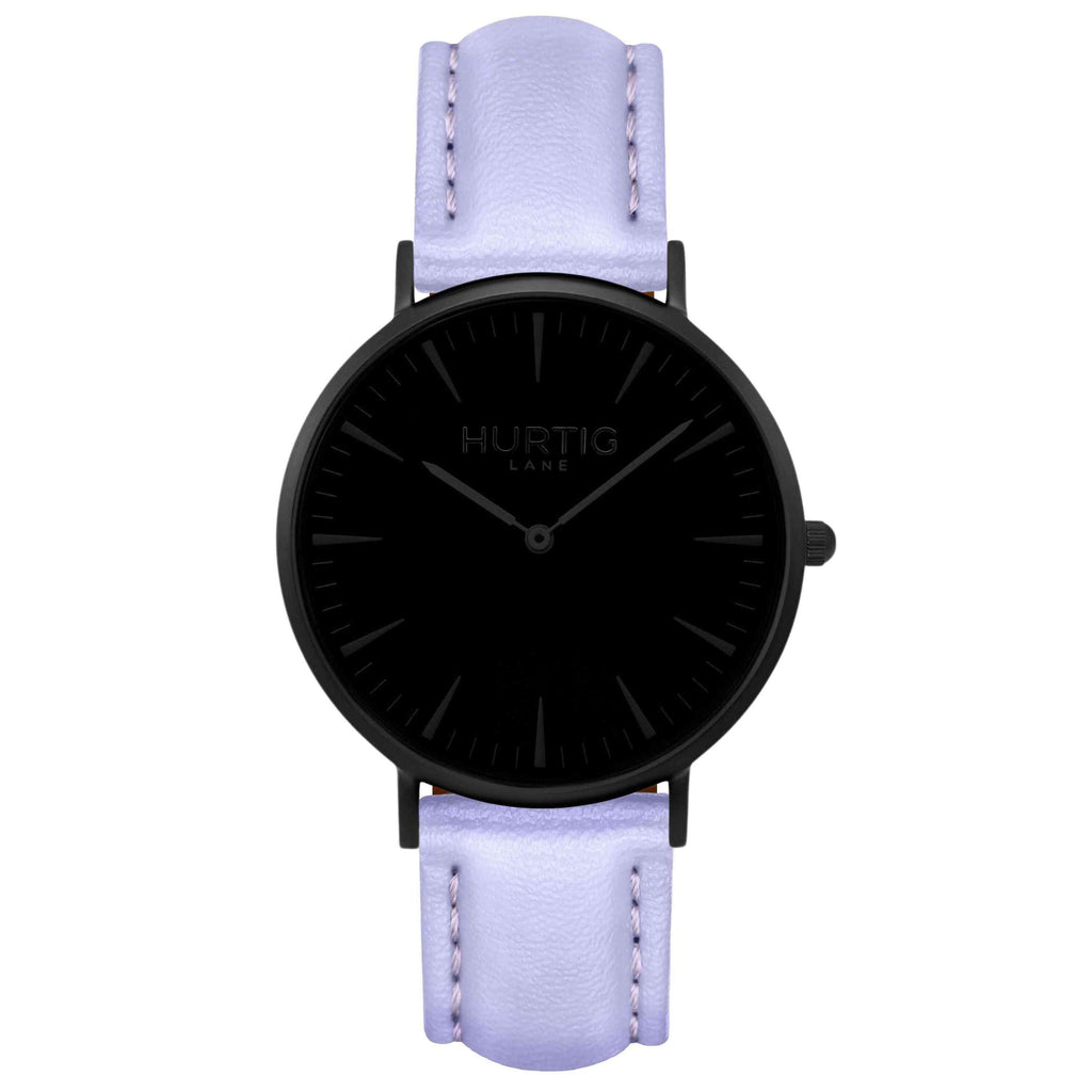 hurtig lane vegan watch black and lilac- vegane uhr