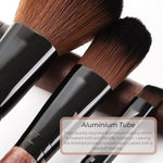 Vegan Flat Foundation/Concealer Makeup Brush - Sustainable Wood and Black Makeup Brushes Hurtig Lane