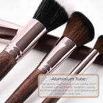 Vegan Flat Concealer/Foundation Makeup Brush- Sustainable Wood and Rose Gold Makeup Brushes Hurtig Lane