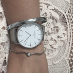 Lorelai Stainless Steel Silver/White/Silver - hurtig-lane-vegan-watches