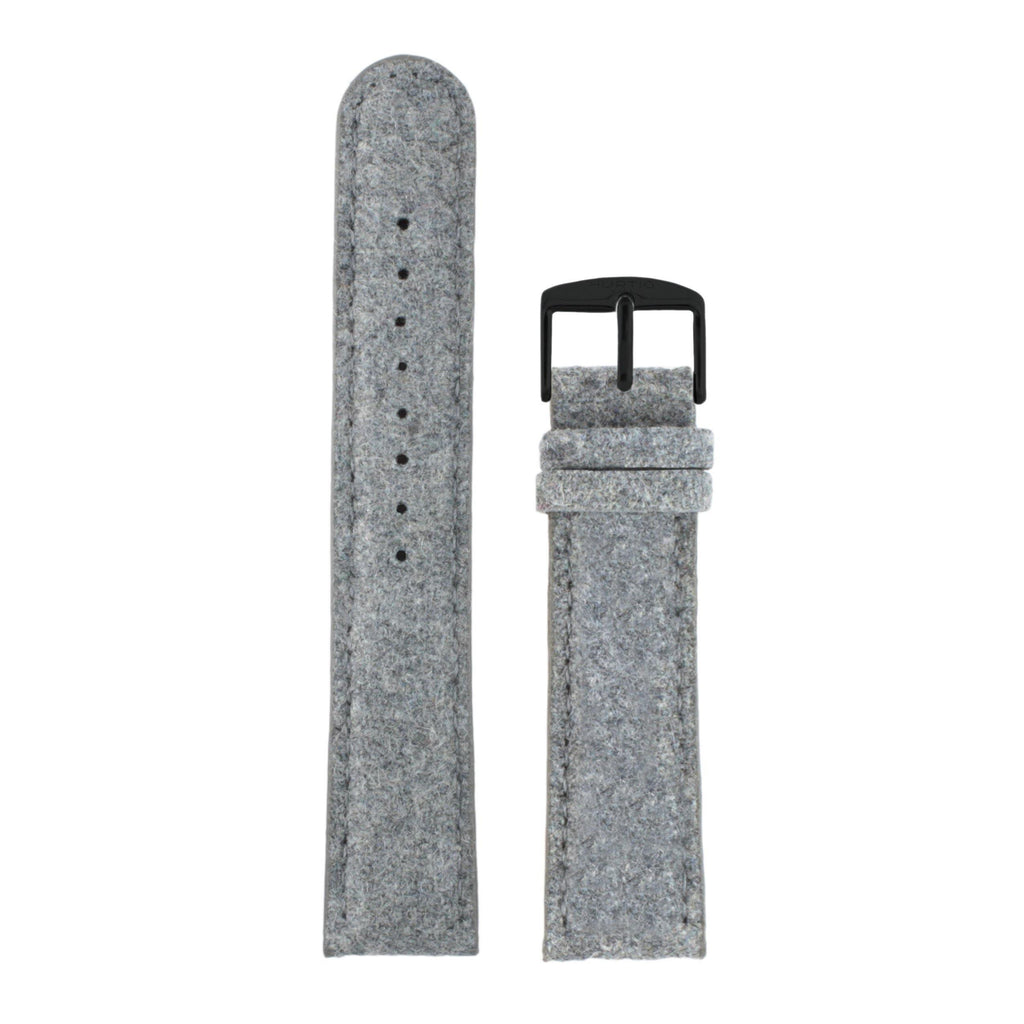 Hymnal Grey and Black Vegan Tweed Strap-hurtig-banan-vegan-klockor