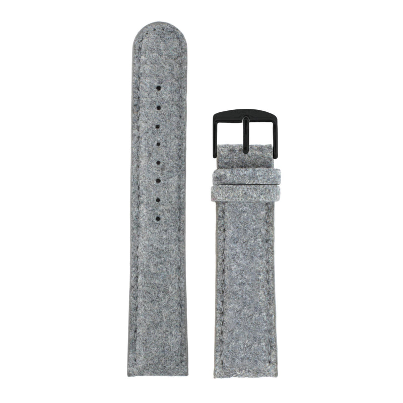 Hymnal Grey and Black Vegan Tweed Strap - hurtig-lane-vegan-watches