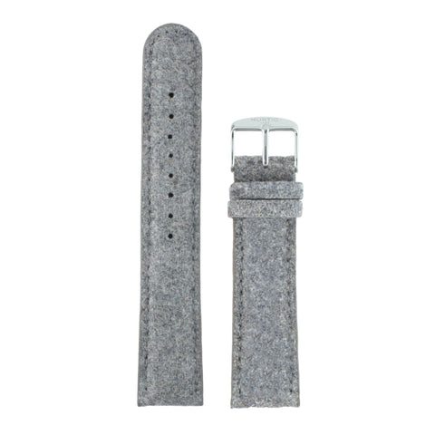 Hymnal Grey and Black Vegan Tweed Strap