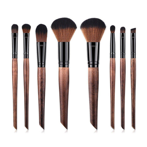 Vegan Eyeshadow Blender Makeup Brush- Bamboo and Silver