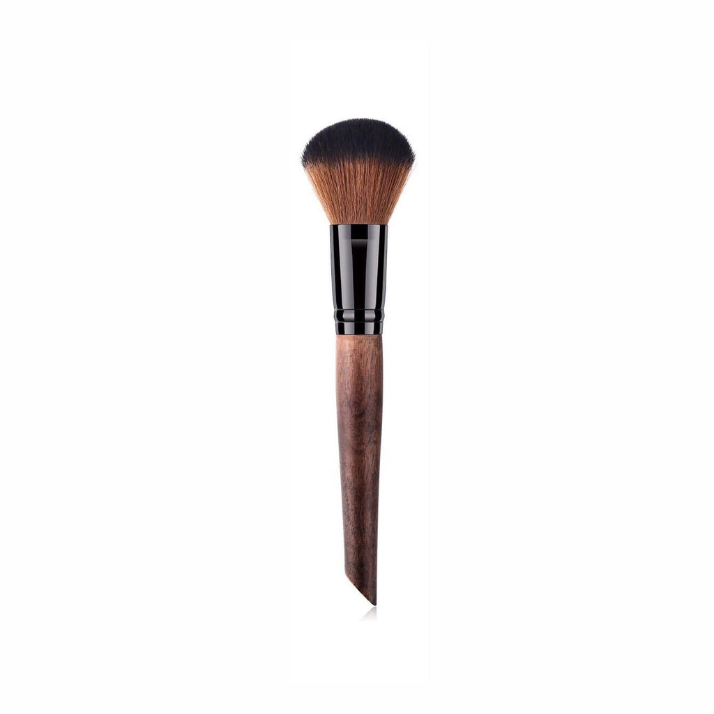 Vegan Makeup Powder Blush Brush- Sustainable Wood and Black Makeup Brushes Hurtig Lane