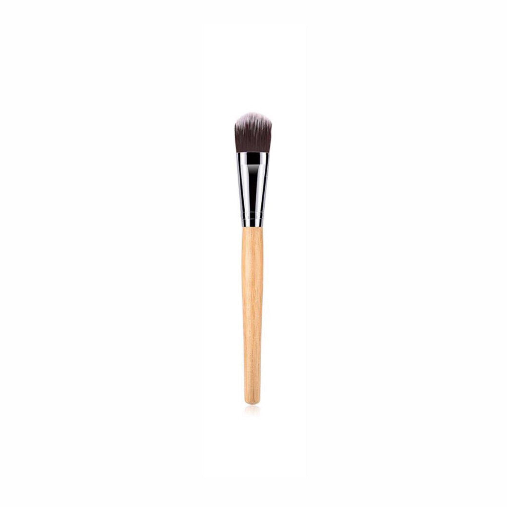 Vegan Foundation Makeup Brush- Bamboo and Silver Makeup Brushes Hurtig Lane