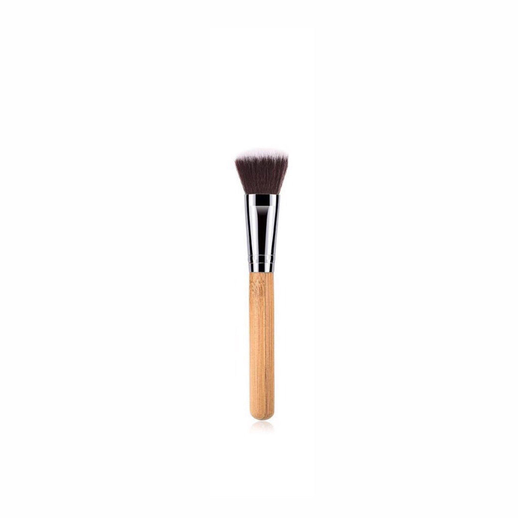 Vegan Blush Makeup Brush- Bamboo and Silver Makeup Brushes Hurtig Lane