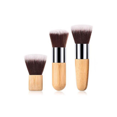 Vegan Angled Brow Makeup Brush - Sustainable Wood and Black