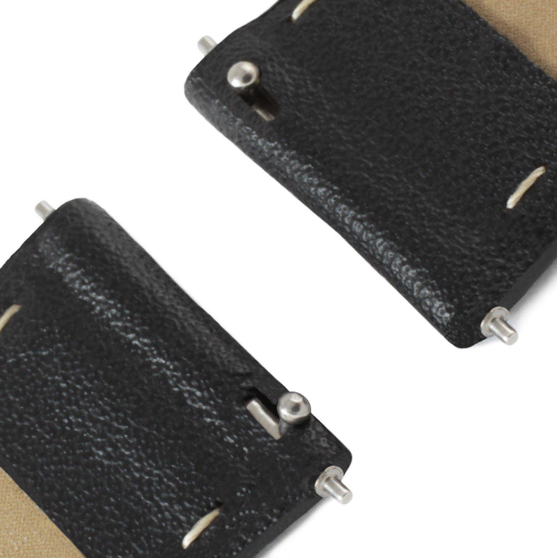 Mykonos Black and Silver Vegan Leather Strap