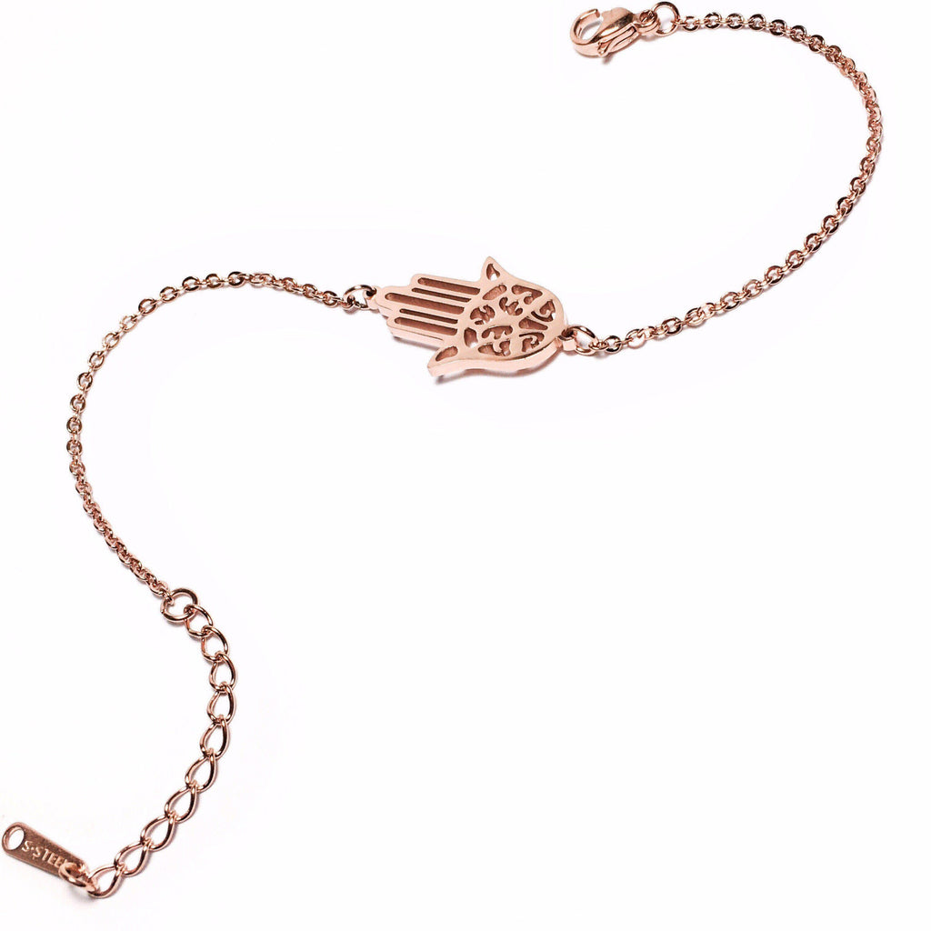 Hamsa Hand Rose Gold - hurtig-lane-vegan-watches