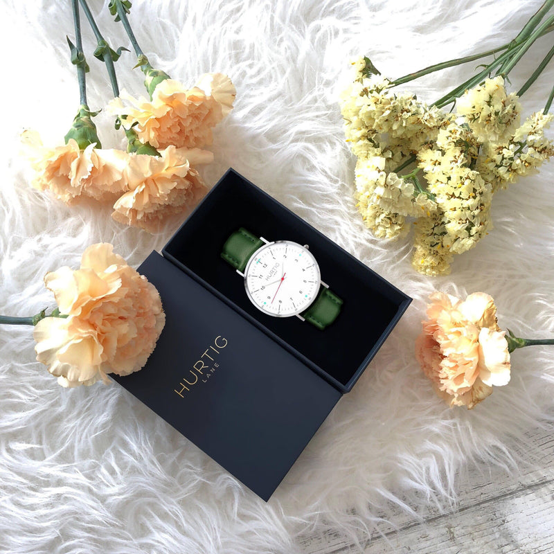 vegan watch and flowers