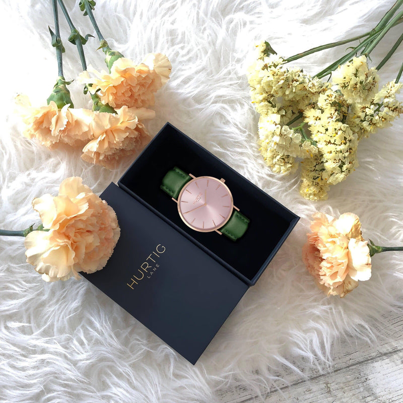 vegan friendly gift set all rose gold and green