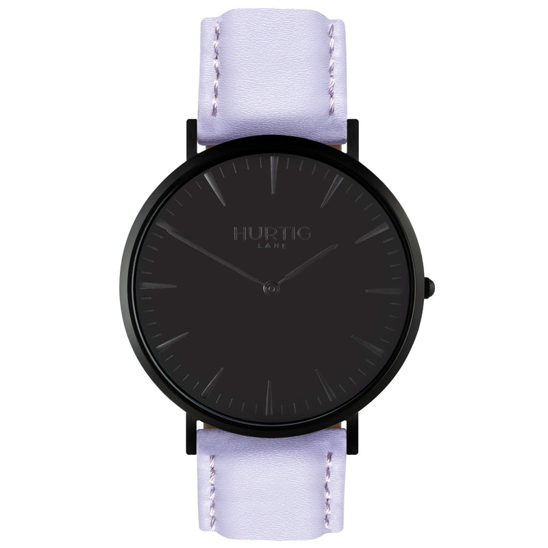 Mykonos Vegan Leather All Black/Black - hurtig-lane-vegan-watches