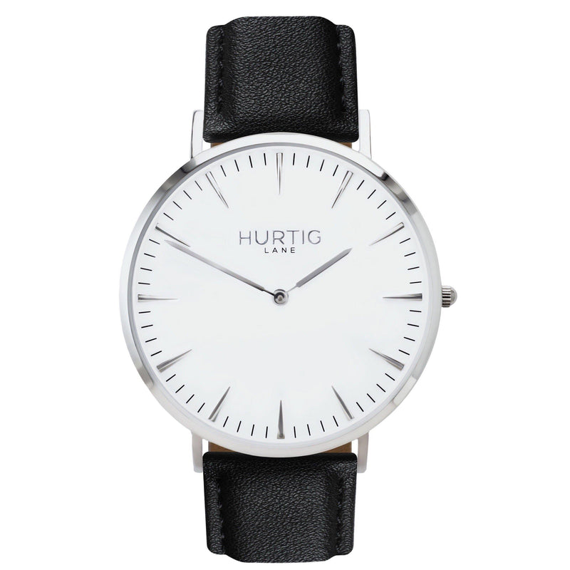 Mykonos Vegan Leather Silver/White/Cloud Grey - hurtig-lane-vegan-watches