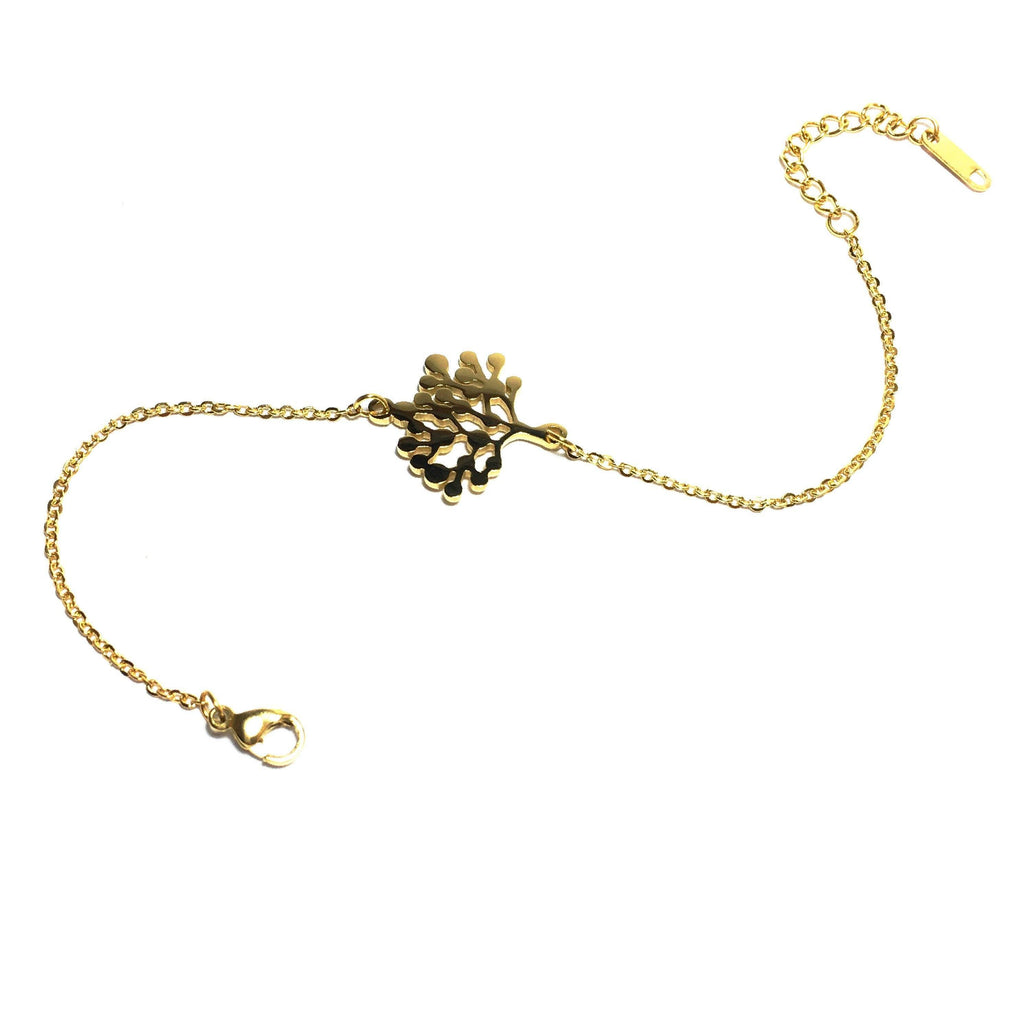 Gold vegan, ethical bracelet