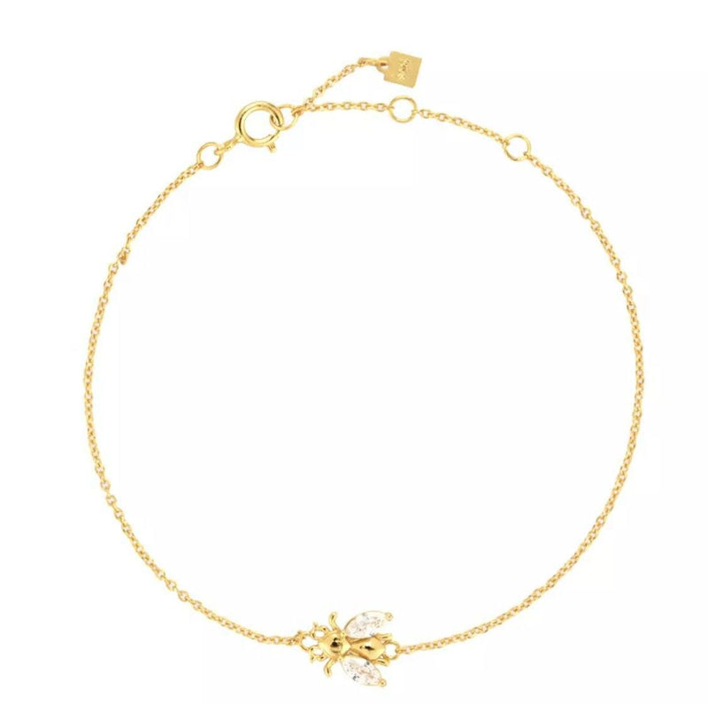 Bee Lovely Brilliance Gold Bracelet Jewellery Hurtig Lane Vegan Watches