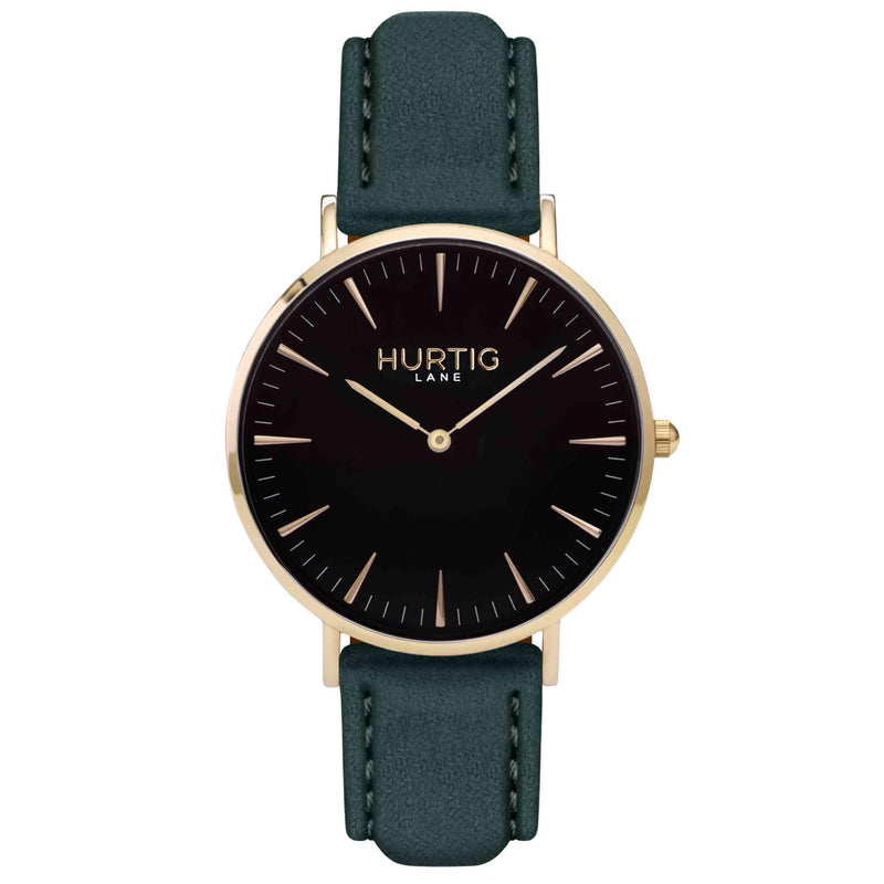 Hymnal Vegan Watch Tweed Gold, Black & Grey - Hurtig Lane - sustainable- vegan-ethical- cruelty free