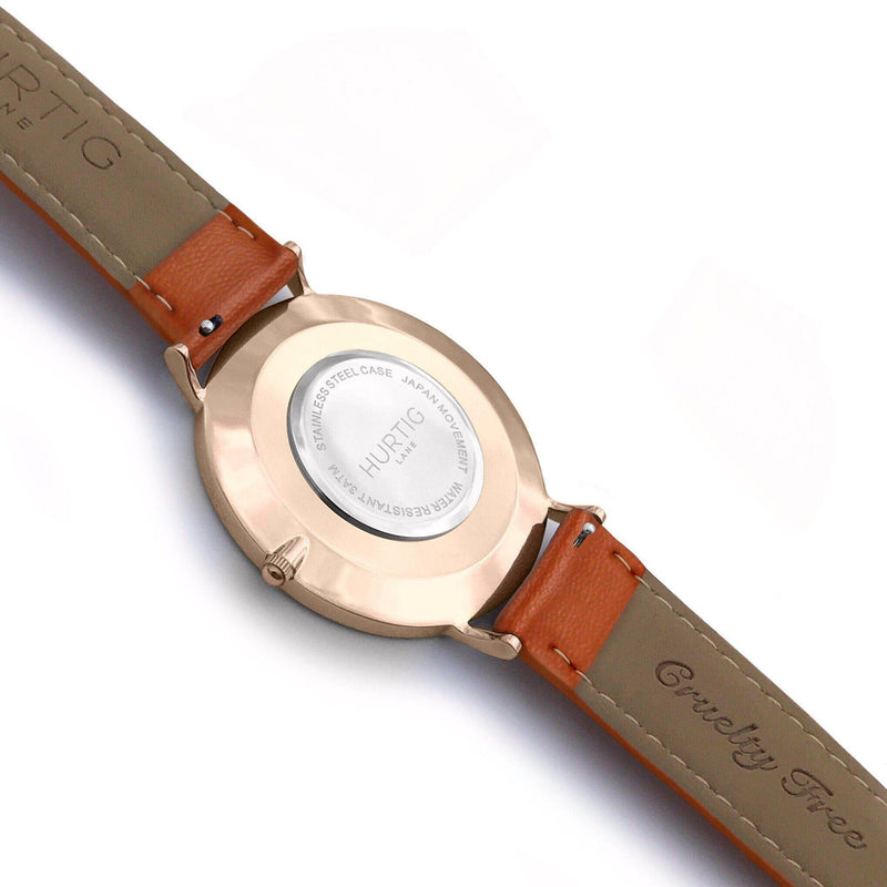 Mykonos Vegan Leather All Rose & Tan Watch Hurtig Lane Vegan Watches